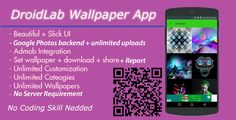 Wallpaper App with Google Photos Backend - No Server Needed + Admob interstitial And Banner Ads