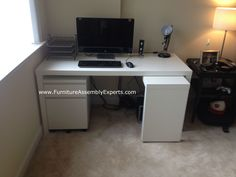 Ikea Malm Desk With Drawer Unit Assembled At Quincy Plaza Apartments In  Arlington Va For A
