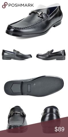 """NEW Mens Bruno 'Harry' Dress Loafers Penny Shoes NEW   Men's No Lace Dress Loafers Penny Loafers Shoes Color: Black  Features:  Faux Leather Italian Style  Moc Toe Stitching Vamp Lightweight  Flexible and Comfort Heel height approx 1""""  Cushioned manmade Footbed   A great and comfortable design. A lightweight flexible shoe with a durable non skid outsole.   @alexambrands ALexam aLexam-01bla Shoes Loafers & Slip-Ons"""