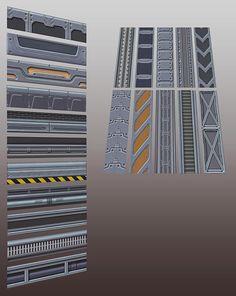 Blaze K - Sci-Fi Texture Pack (Semi-stylized)