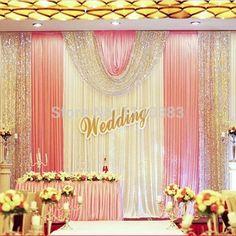 Patel wedding braja mandala ethnic weddings pinterest ethnic 3m high x6m long white and pink sequin diy wedding stage party backdrop decoration drapes with ice silk junglespirit Images