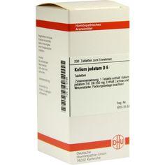 KALIUM JODATUM D 6 Tabletten:   Packungsinhalt: 200 St Tabletten PZN: 02115799 Hersteller: DHU-Arzneimittel GmbH & Co. KG Preis: 10,49…