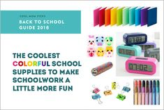 Cool, colorful school supplies to make September a little more fun | Cool Mom Picks Back to School Guide 2016