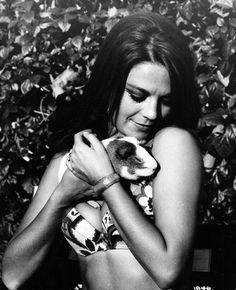 with her pet guniea pig