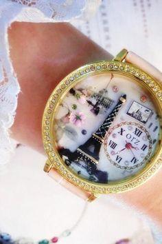 Ms. fashion watch fashion quartz electronic wristwatch Eiffel clay watch