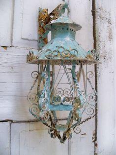 Lantern-----metal....shabby chic style