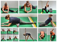 35 stretches to stretch out from head to toe. stretches to open your hips prevent foot pain alleviate knee pain prevent neck shoulder and upper back pain Back Stretches For Pain, Hip Stretches, Stretching Exercises, Frog Stretch, Quad Stretch, Hip Flexor Exercises, Ankle Mobility, Upper Back Pain, Low Back Pain