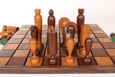 vintage wood chess set - Google Search