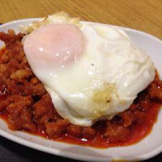 Picadillo riojano huevo frito (con un punto de picante) - Taberna del Tío Blas - Logroño (La Rioja)