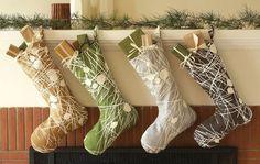Abstract handmade stockings