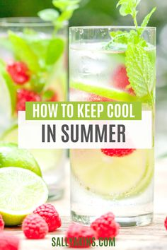 When the temperature starts to rise, you need ways to help you stay cool. From what to eat to how to get a good night's sleep, these 25 low-cost, low-tech tips will help you feel more comfortable when the summer heat gets going. Click through to find out how to keep your cool this summer! #summer #cool