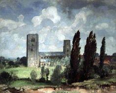 """Wymondham Abbey, Norfolk"" - John Alfred Arnesby Brown (1866-1955)"