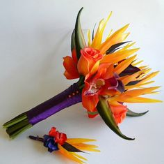 Tropical Bird of Paradise Bridal Bouquet in by BlueLilyBridal