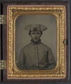 (c. 1861-1865) Private Thomas Green of Co. B, 11th Massachusetts Infantry Regiment in uniform