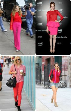 103c332c32 pink red outfit - Google Search Floral Fashion