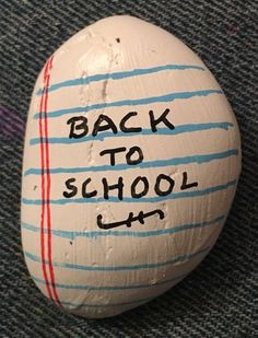 One of several back to school designs. (08/2021) Kindness Rocks, Paint Pens, School Design, Painted Rocks, Back To School, Concept, Rock Painting, Artist, Crafts