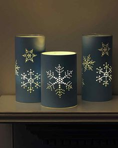 Screw-Punched Snowflake Hurricanes Tutorial