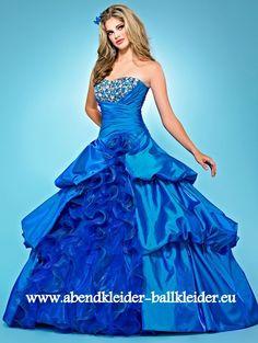 Festliches Abendkleid Ballkleid Online in Blau