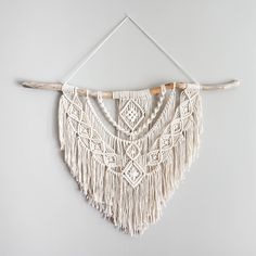 Large Macrame Wall Hanging // tapestry // macrame decor // boho decor // wall art // bohemian // Made to order by theDopeRope on Etsy https://www.etsy.com/listing/516649410/large-macrame-wall-hanging-tapestry