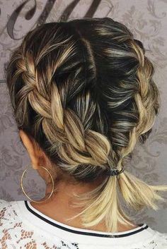 Cute Braided Hairstyles, Cute Hairstyles For Short Hair, Box Braids Hairstyles, Braided Ponytail, Pixie Hairstyles, Wedding Hairstyles, Twisted Bun, Office Hairstyles, Evening Hairstyles