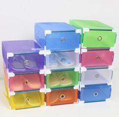 Χρωματιστά διαφανές πλαστικό κουτί παπουτσιών συρτάρι στιλ παπούτσι κουτιά αποθήκευσης παπούτσι Shoebox παχύ Lynx 200g 3$