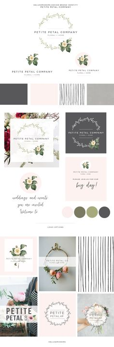 Deluxemodern Brand Identity for Petite Petal Company