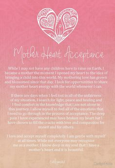 Mother heart acceptance