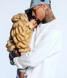 Chris Brown with his daugher Royalty