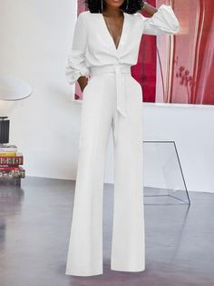 Ericdress Fashion Lace-Up Plain Straight Loose Jumpsuit Fashion girls, party dresses long dress for short Women, casual summer outfit ideas, party dresses Fashion Trends, Latest Fashion # Suit Fashion, Look Fashion, Fashion Dresses, Latest Fashion, Fashion Trends, Fashion Today, Cheap Fashion, Teen Fashion, Winter Fashion