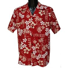 chemise hawaienne ...IAO VALLEY ROUGE