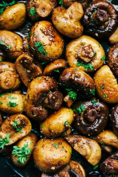 Honey Balsamic Garlic Mushrooms 2