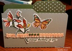 File Folder Card made with Envelope Punch Board, Stampin Up Backyard Basics