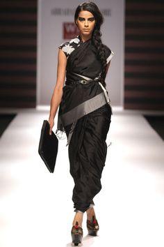 Stunning stunning sari (not the way it is draped) - Abraham & Thakore (design to be showcased at Victoria & Albert Museum)