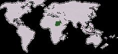 This is Sudan and South Sudan on a world map.