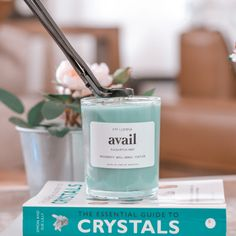 Cute Candles, Soy Wax Candles, Candle Drawing, Eucalyptus Candle, Homemade Soy Candles, Sinus Relief, Citrine Crystal, Mint, Crystals