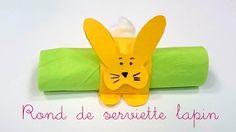 Fabriquer un rond de serviette lapin de Pâques. Bricolage de Pâques.