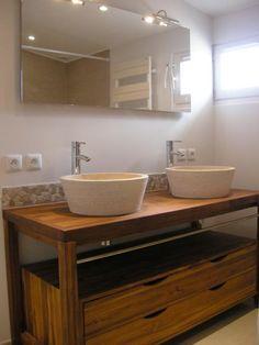 Les 15 meilleures images de frise en galets salle de bain bathroom bath room et bathroom - Douche double italienne ...