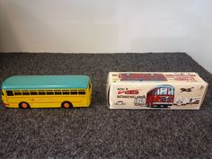 Kovap Retro Bussing 1959 Yellow Autobus Tin Bus Model SOLD! Was available at Gadgets and Gold in Gainesville, FL.