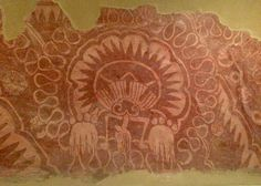 Teotihuacan  Fragmento de pintura mural
