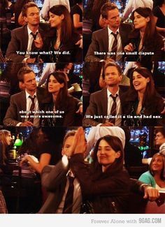 All-time favorite Robin and Barney moment. Ever. They make your relationship look lame