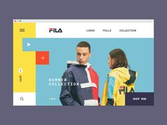 Fila concept store redesign mondrian rectangular yellow looks eshop sport fila Edm Template, Photography Website Templates, Digital Photo Album, Ui Web, Website Design Inspiration, Email Design, Web Layout, Interactive Design, Design Development