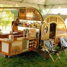 Camping and a wine fridge.