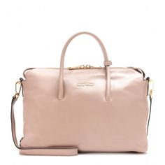 naughtygalshoes.com Leather tote - Totes - Bags - Miu Miu - Luxury Fashion for Women / Designer clothing, shoes, bags
