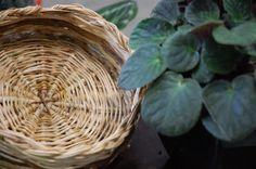 Asian Antiques Antiques Learned Piatto Cestino Ceramica Vimini Cinese Giapponese Orientale Vecchio