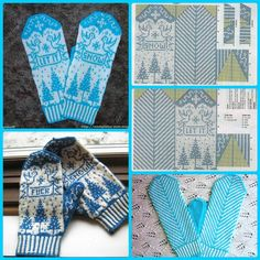 "Вязание. Варежки с жаккардом - ""Зимняя радуга"" Double Knitting Patterns, Knitted Mittens Pattern, Crochet Mittens, Knitting Charts, Knitted Gloves, Knitting Stitches, Knitting Socks, Hand Knitting, Knitting Accessories"