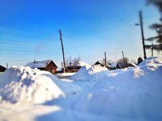 Winter in Агинское.