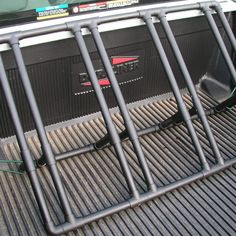 Installed pickup truck bike rack.