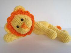 Crochet Lion Amigurumi Floppy Orange and by YouHadMeAtCrochet,