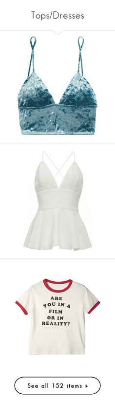 """""""Tops/Dresses"""" by queen-curly on Polyvore featuring intimates, bras, tops, underwear, bralets, crop top, soft cup bra, triangle bras, long line bra and bralette bras"""