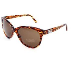 Versace Sunglasses VE 4246 B 500373 Acetate plastic Havana marble Brown Versace. $171.33